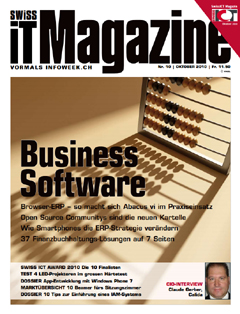 Swiss IT Magazine Cover Ausgabe 2010/itm_201010