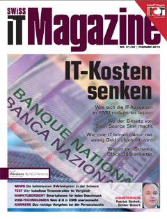 Swiss IT Magazine Cover Ausgabe 2012/itm_201201