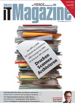 Swiss IT Magazine Cover Ausgabe 201703