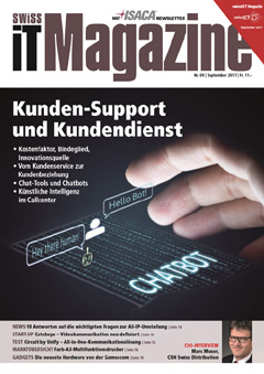 Swiss IT Magazine Cover Ausgabe 201709