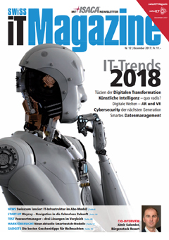 Swiss IT Magazine Cover Ausgabe 2017/itm_201712