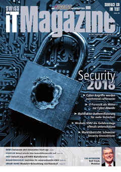 Swiss IT Magazine: Cover der  Ausgabe 2018/09