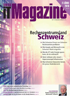 Swiss IT Magazine: Cover der  Ausgabe 2018/11