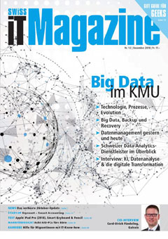 Swiss IT Magazine: Cover der  Ausgabe 2018/12