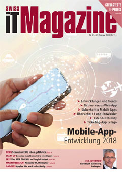 Swiss IT Magazine Cover Ausgabe 201801