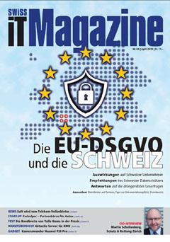 Swiss IT Magazine: Cover der Ausgabe 2018/04