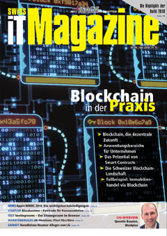 Swiss IT Magazine Cover Ausgabe 2018/itm_201806
