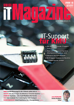 Swiss IT Magazine Cover Ausgabe 2018/itm_201810