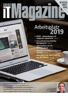 Swiss IT Magazine: Cover der  Ausgabe 2019/01