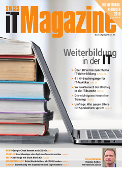 Swiss IT Magazine Cover Ausgabe 201904