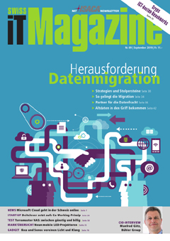 Swiss IT Magazine Cover Ausgabe 2019/itm_201909