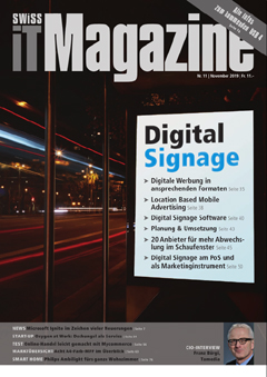 Swiss IT Magazine Cover Ausgabe 201911