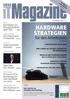 Swiss IT Magazine: Cover der Ausgabe 2020/10