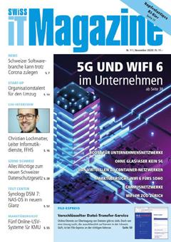 Swiss IT Magazine: Cover der Ausgabe 2020/11