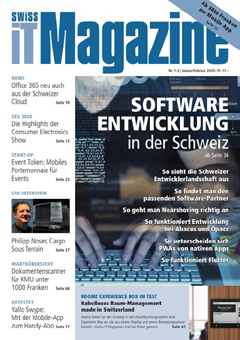 Swiss IT Magazine Cover Ausgabe 202001