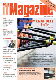 Swiss IT Magazine: Cover der  Ausgabe 2020/05