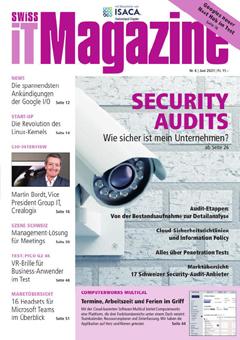 Swiss IT Magazine: Cover der Ausgabe 2021/06