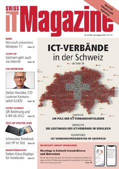Swiss IT Magazine: Cover der Ausgabe 2021/07