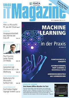 Swiss IT Magazine: Cover der Ausgabe 2021/09