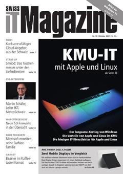 Swiss IT Magazine: Cover der Ausgabe 2021/10