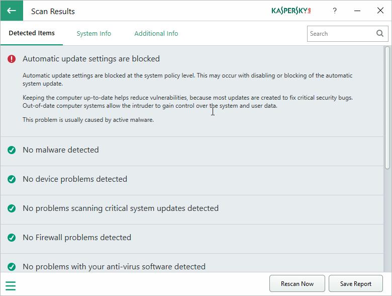 Kaspersky System Checker Download - Swiss IT Magazine Freeware