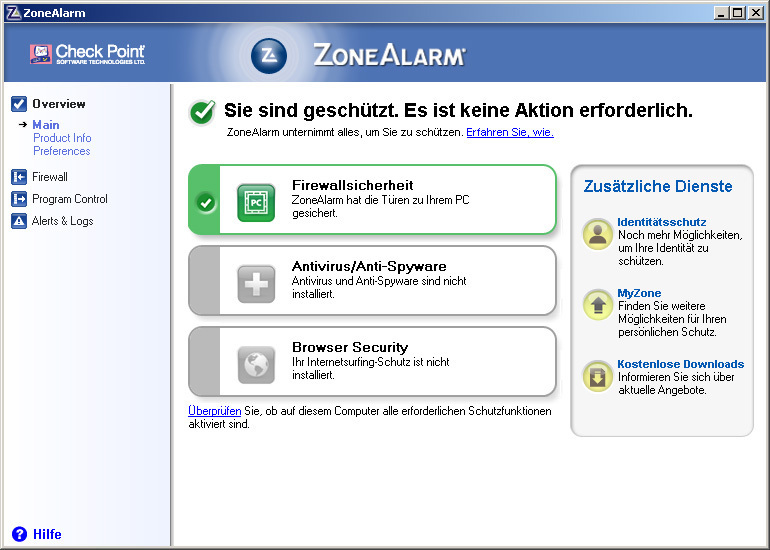 ZoneAlarm Free Firewall Download - Swiss IT Magazine Freeware