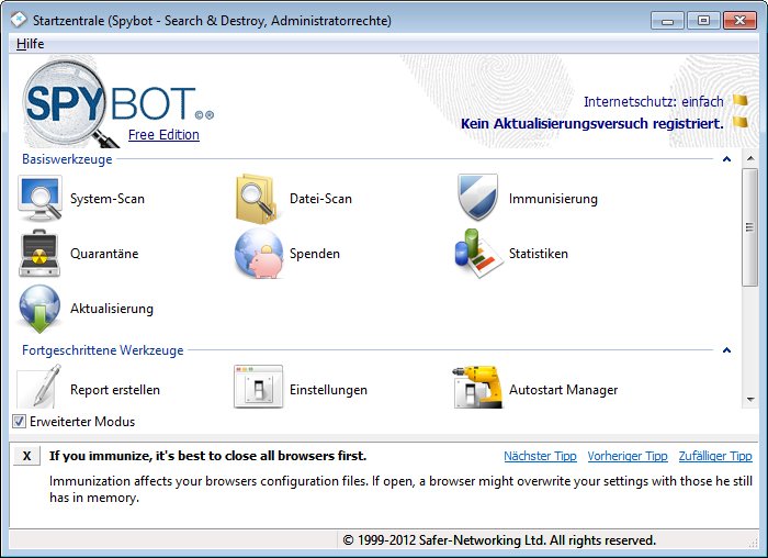 spybot search and destroy license key