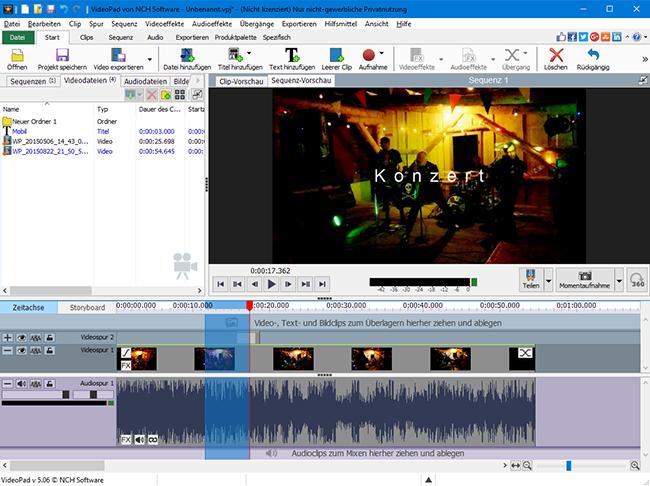 VideoPad Video Editor Download - Swiss IT Magazine Freeware