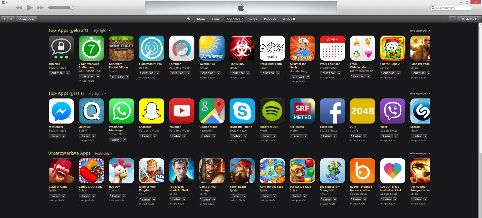 beliebte apps iphone