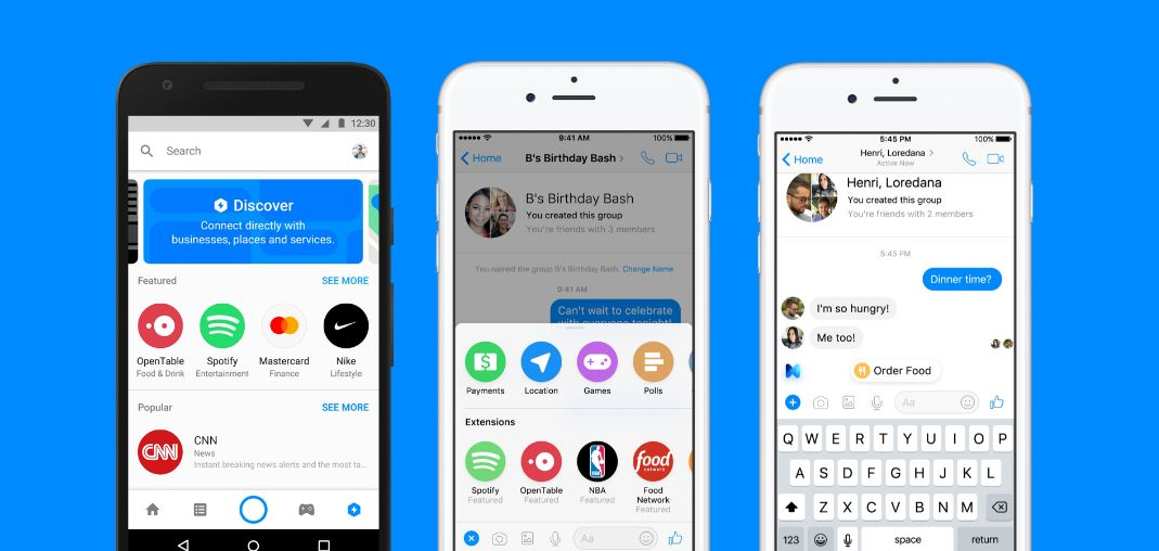Facebook: Kostenloses Workplace und Bot-Integration in Messenger