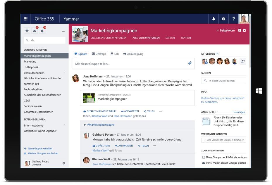 Yammer wird in office 365 gruppen integriert it magazine - Yammer office 365 integration ...