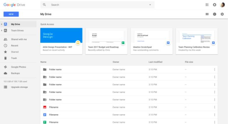 Google lanciert Quick Access in Drive
