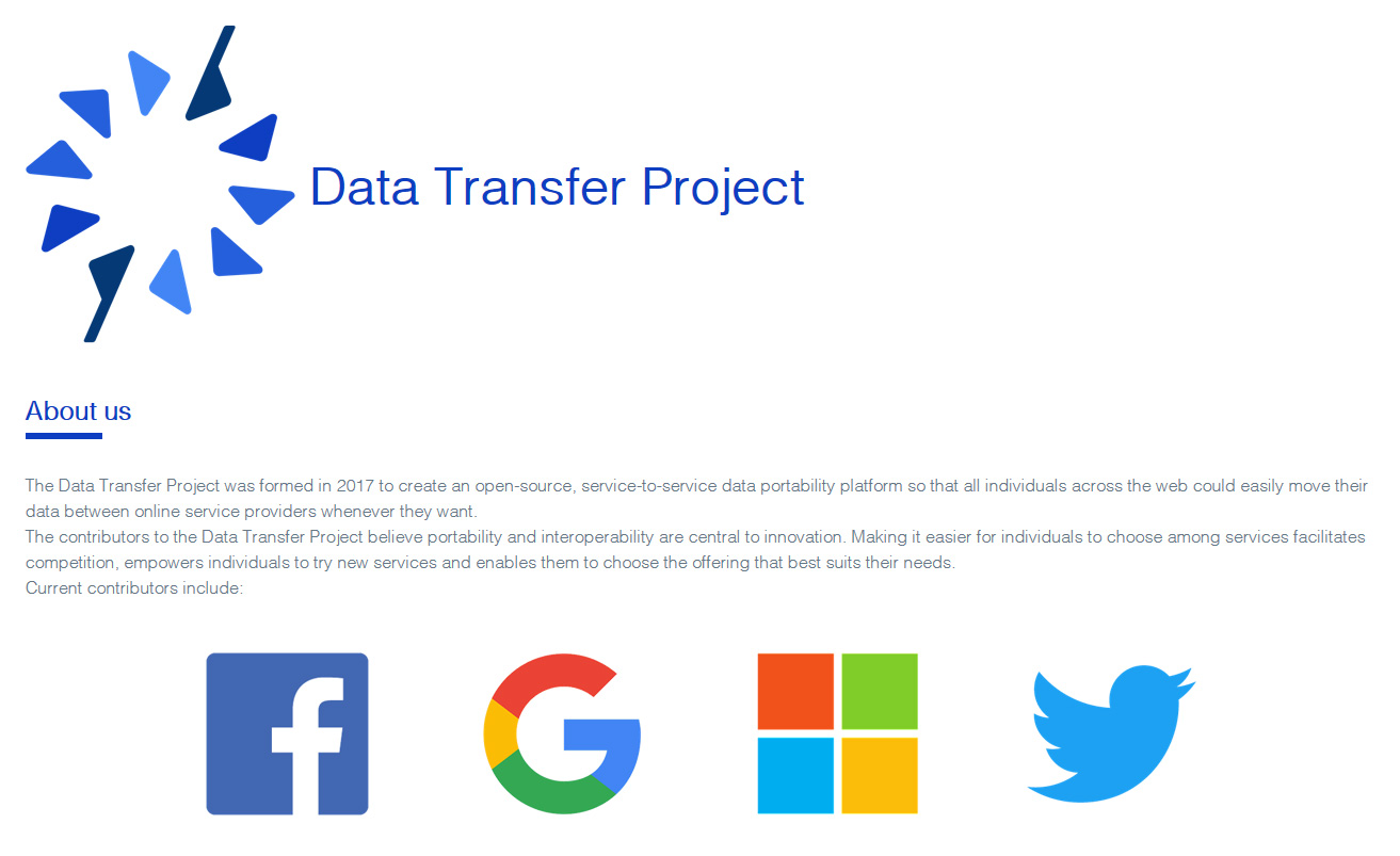Internetriesen stellen Data Transfer Project vor