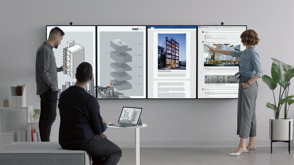 Microsoft K 252 Ndigt Interaktives Whiteboard Surface Hub 2 An