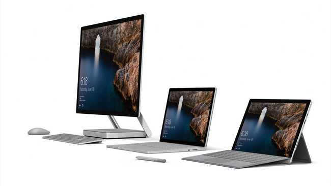 Getestet: Surface Studio, Surface Laptop und Surface Pro
